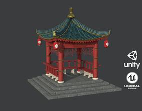 3D asset Old Traditional Japanese Gazebo
