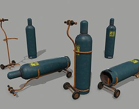 gas cylinder counter 3D model game-ready