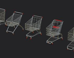5 shopping cart Dirty Pack 3D model