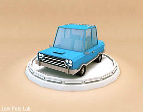 Cartoon Family City Car 3D model