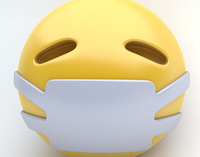 3D asset EMOJI medical mask
