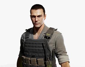 3D asset rigged Army Man