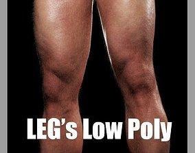 Legs Low Poly CG 3D asset realtime