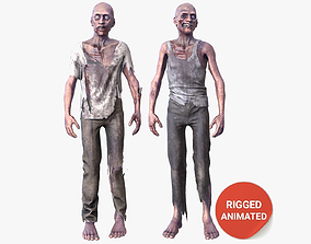Zombie Rigged Animated 3D asset