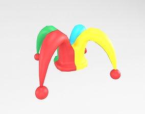 3D asset Jester hat v1 004