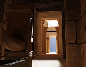 Egyptian temple 3D