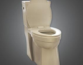 3D asset Toilet 01a - ARV01 - Arch Viz - Game Ready
