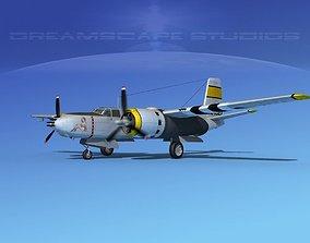 3D model Douglas A-26B Invader V02 USAAF