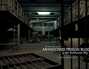 3D Abandoned Prison Block abandoned