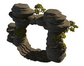 3D model Mount cliff - door plant