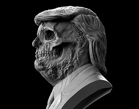 usa Donald Trump Skull Bust 3D print model