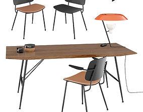 Set Soborg armchair table 3D model