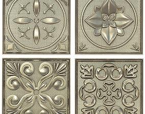 Decorative panels - Set 2 3D model