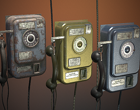 3D model game-ready phone military