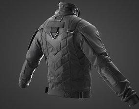 Tactical jacket Marvelous Designer 3D model