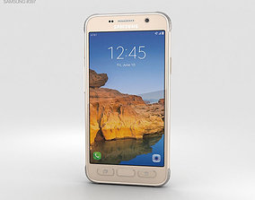 Samsung Galaxy S7 Active Sandy Gold 3D samsung