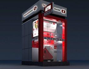 3D Model Detailed ATM Machine Kiosk