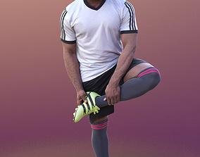 Gabriel 10373 - Stretching Soccer Man 3D asset
