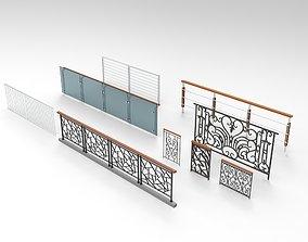 pale Railing 3D model