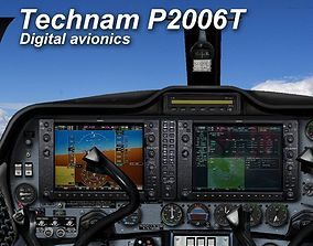 3D asset Tecnam P2006T Virtual Digital Cockpit