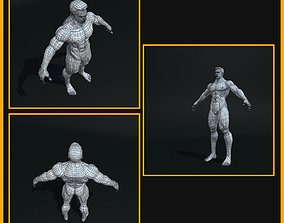 Realistic Male Body 3D model low-poly