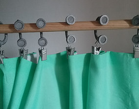 Drure Curtain Rod Hook hooks 3D print model