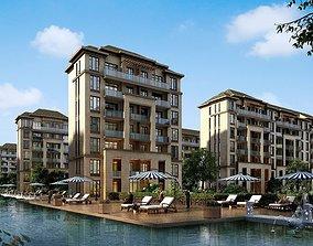 3D model Residential building 016