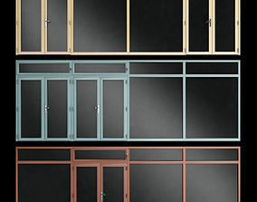 3D model stained Stained aluminum fire doors