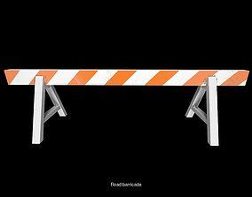 3D roadblock barricade