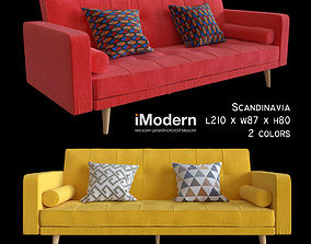 Sofa Imodern Scandinavia 2 colors 3D model