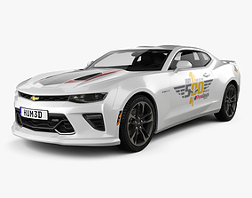 3D Chevrolet Camaro SS Indy 500 Pace Car with HQ interior