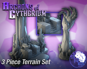 Crystal Centerpiece Terrain Set 3D print model