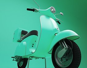 Italian Scooter 3D model game-ready