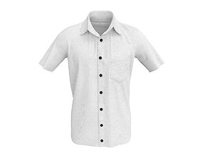 3D model 3 D Men Half Sleeve Formal Shirt