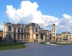 European classical castle 3D