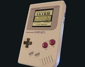 Nintendo Game Boy Low Poly version 3D asset