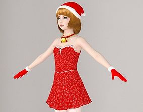 3D T pose nonrigged model of Lolita in Christmas