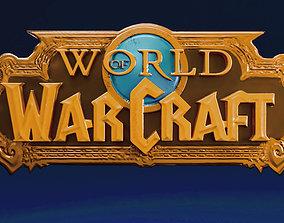 World of Warcraft logo wow 3D print