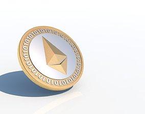 Ethereum Coin 3D - ETH COIN bitcoin
