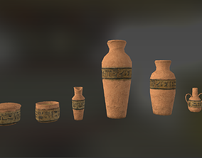 Low-Poly Fantasy Egyptian Pottery 3D model