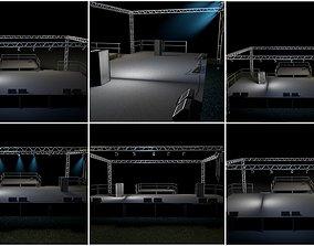 Stage model 3D model