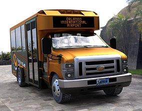 rigged Shuttle Bus model in mutiple formats