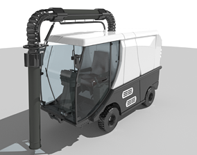 Madvac CR100 Road Sweeper 3D asset