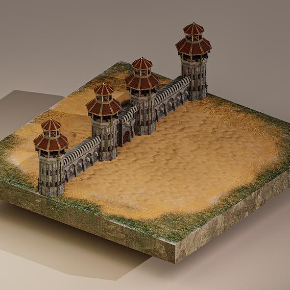 Medieval Defensive Wall