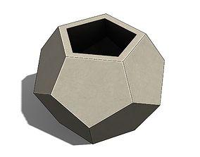 Concrete Vase Dodecahedron Low 3D print model