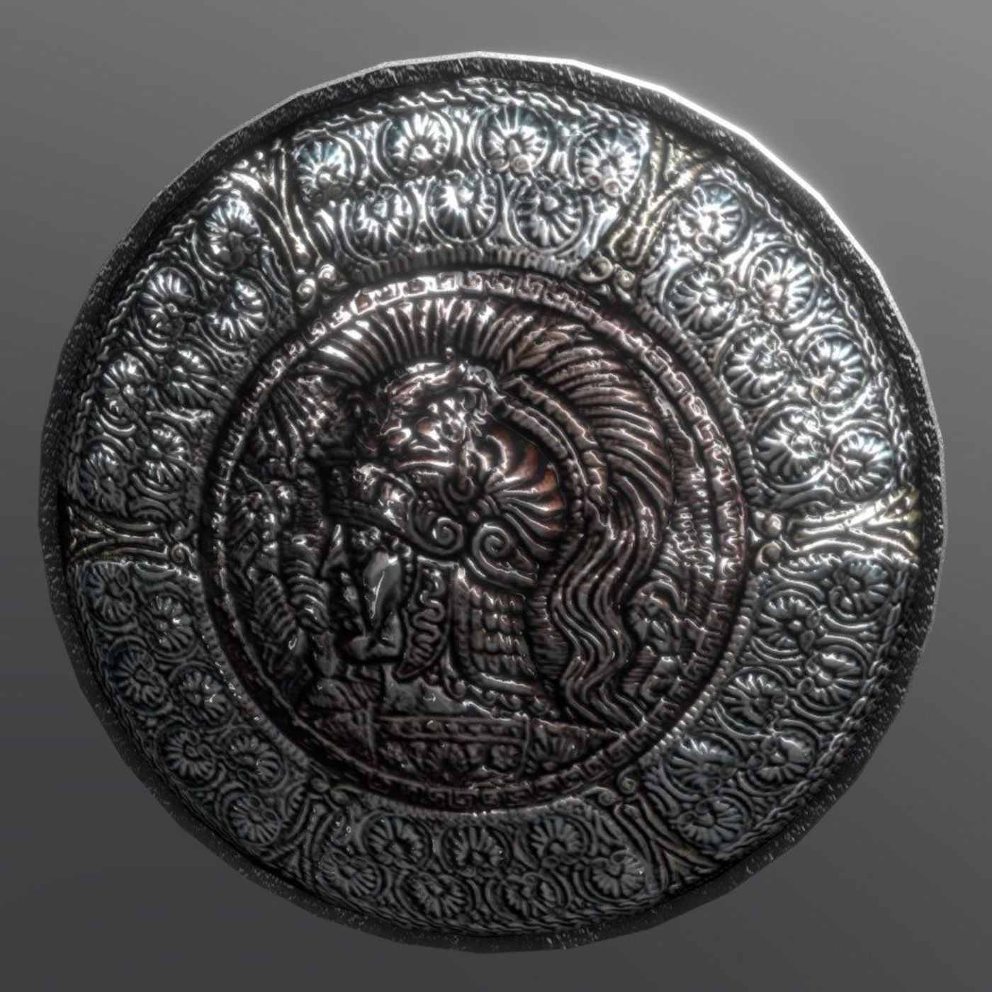 Shield with relief