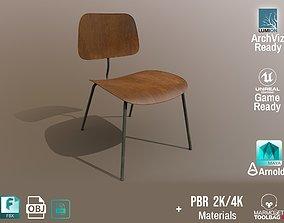 3D asset Detailed Vintage School Chair Aged Design PBR - 3