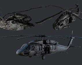 Sikorsky UH60 Black Hawk Military Helicopter 3D asset 4