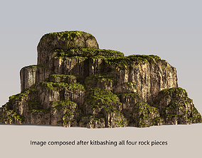 3D Mossy Modular Rocks Kit