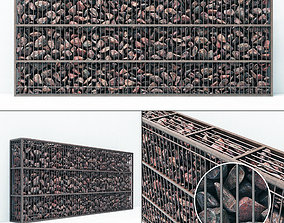 3D Gabion big rock stone